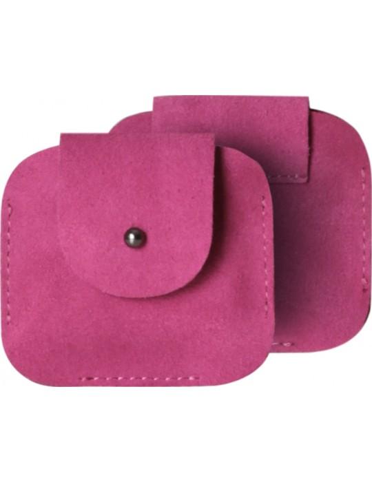 Чехол для наушников красныйPoint Универсальный Clip Розовый замша
