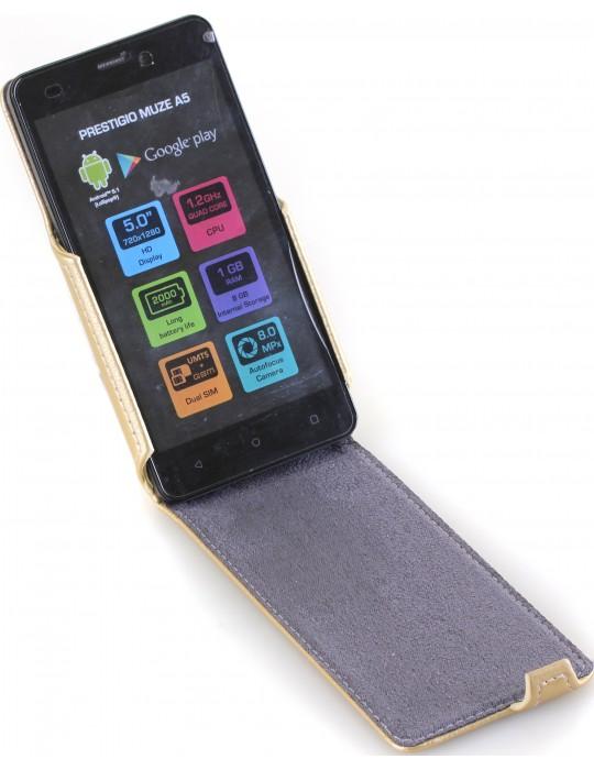 Чехол RedPoint Flip Case для Prestigio MultiPhone Muze A5 5502 Duo золотистый
