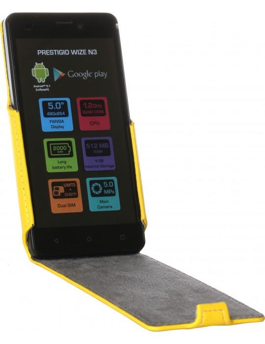 Чехол RedPoint Flip Case для Prestigio MultiPhone Wize N3 3507/MultiPhone Wize NX3 3517/MultiPhone Wize NK3 3527 Желтый