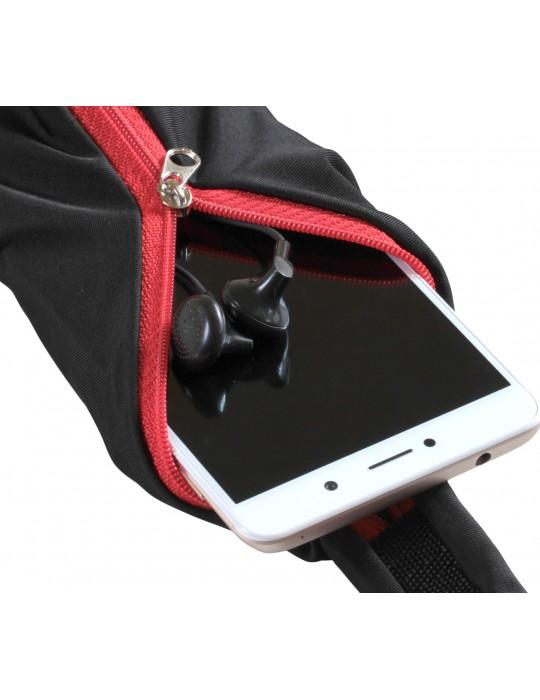 Спортивный пояс для телефона RedPoint Elastic Sport Belt красный